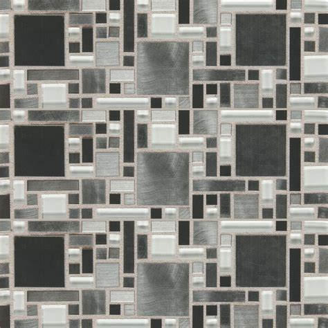 Home Depot Glass Tile by Daltile Fashion Accents Nickel Fortress Blend 12 In X 12