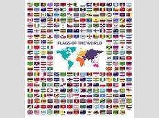 World Flags collection Vector download