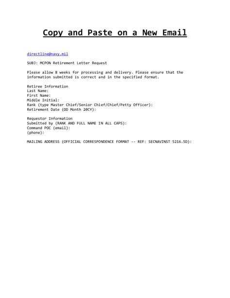 mcpon letter request form