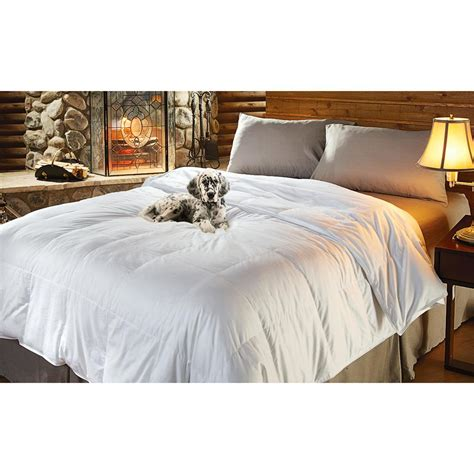 heavyweight 80 20 feather down comforter white 188499