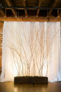 rustic wedding backdrops 30 chic rustic wedding ideas with tree branches tulle chantilly wedding