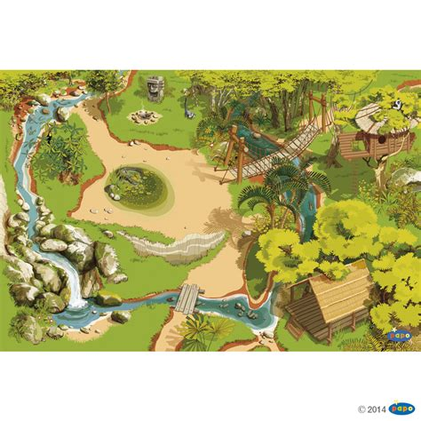figurine le tapis de jeu jungle figurines la vie sauvage