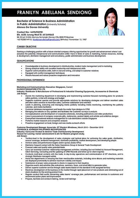 appealing formula  wonderful business administration resume