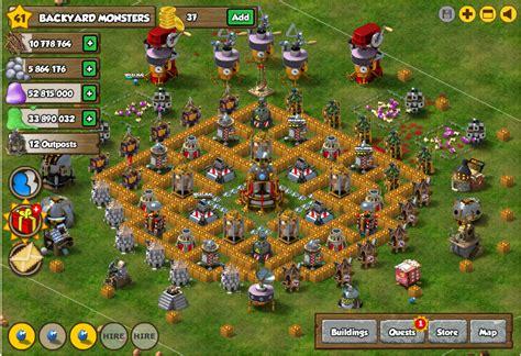 Facebook Backyard Monsters Best Monster Bunker Base