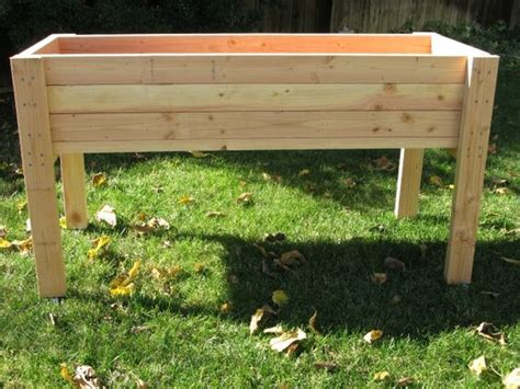 elevated planter box plans planters awesome raised planter box plans raised planter