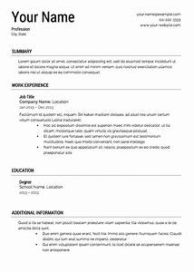 Free resume templates download from super resume for Free resume template with picture
