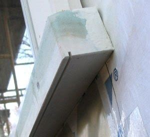 Removing plaster & adding drip groove to window sill