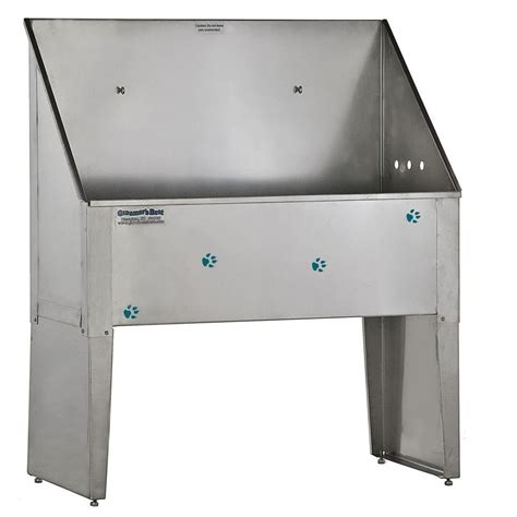 36 in w x 15 in d x 24 in h stainless steel laundry tub