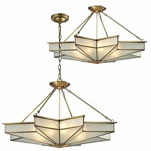 Elk decostar contemporary brushed brass ceiling