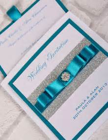 Turquoise and Silver Wedding Invitations