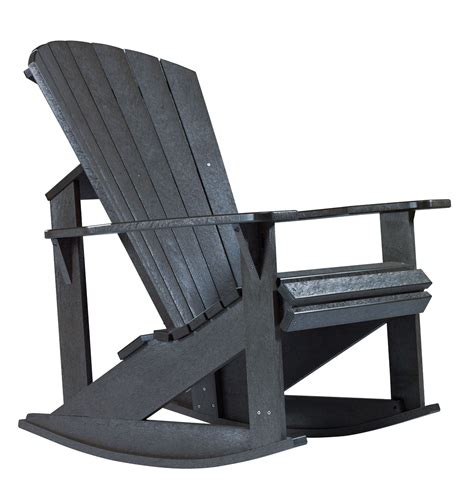 generations black adirondack rocking chair from cr plastic