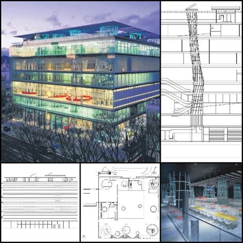 world famous architecture cad drawingssendai mediatheque