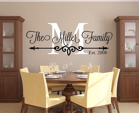 home wall decor stickers customize family name wall decal personalized family