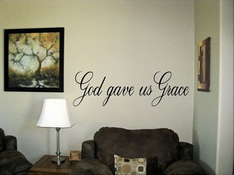Decorate with wall decals, letters, quotes & words : God gave us grace Vinyl Wall Art Words Decals Stickers Decor religious Custom | eBay