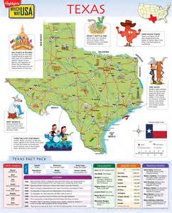 Texas Map Printable for Kids