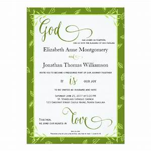 green leaves god is love christian wedding card zazzle With wedding cards god images