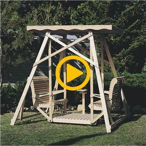 canopy glider swing plans gliders canopy woodworking