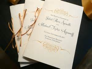 catholic wedding ceremony program wedding program booklet gold programs by pinkorchidinvites