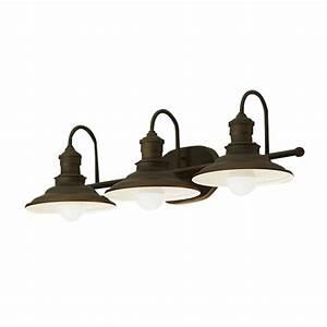 Shop allen + roth Hainsbrook 3-Light 7 48-in Aged Bronze