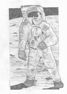 Moon Landing Drawing