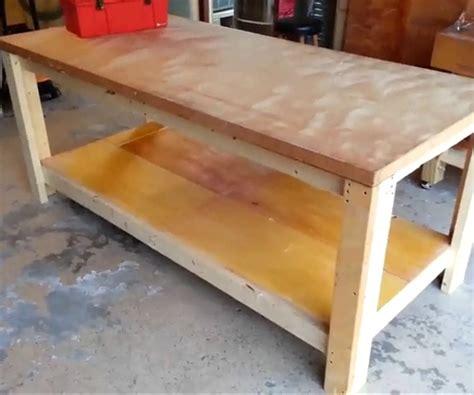 build  garage workbench diy project cut  wood