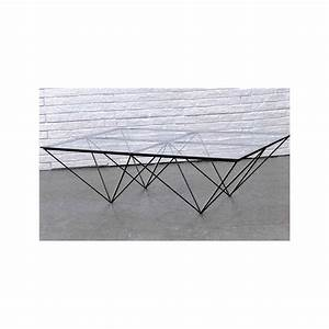 Table Basse Verre Design : table basse rectangulaire verre et m tal louvre ~ Teatrodelosmanantiales.com Idées de Décoration