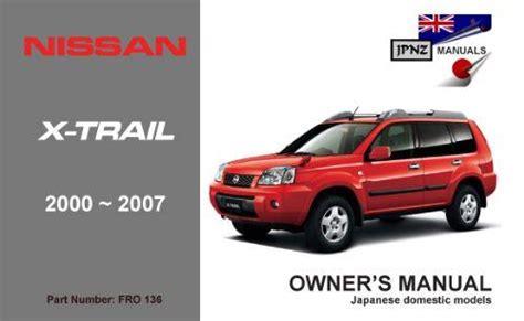 nissan t30 x trail 2000 2007 owners manual engine qr20de sr20vet 9781869762278