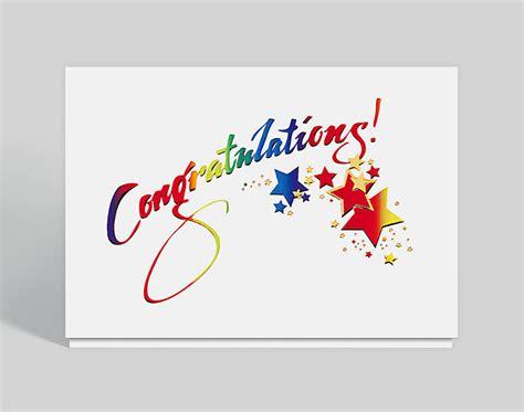 sparkling congratulations card  business