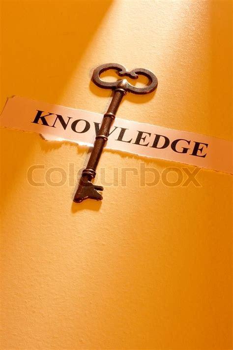 key laying   piece  paper  stock image