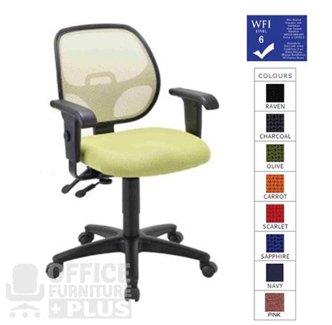 Duo Back Chair Australia by Diablo Duo With Arms Mesh Back Typist Office Chair