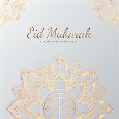 premium vector  eid mubarak card  mandala