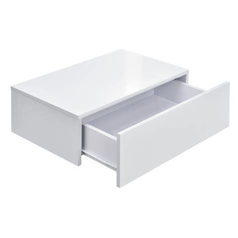 lade a parete en casa 174 2x mensola da parete con cassetto bianco