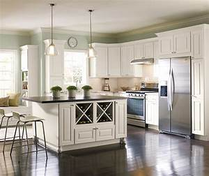 Off White Painted Kitchen Cabinets - Homecrest