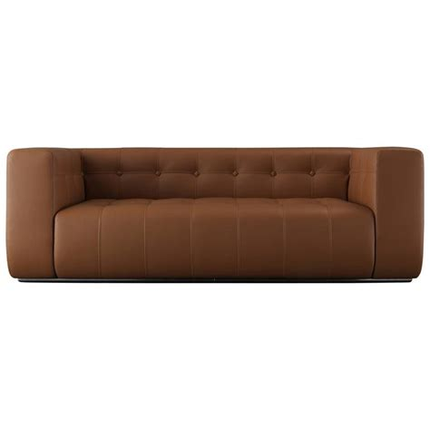 Quality Sofa by Challenger Sofa In Brown Leather In High Quality For Sale