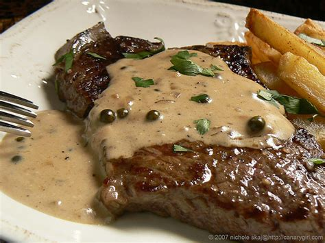 steak sauce recipe steak with peppercorn sauce