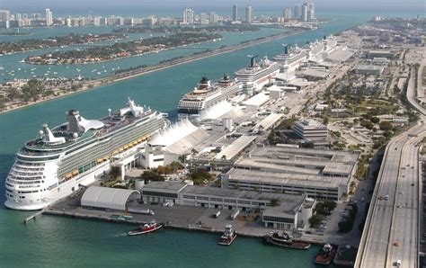 Ship Port by Miami Florida Cruise Port Schedule Cruisemapper