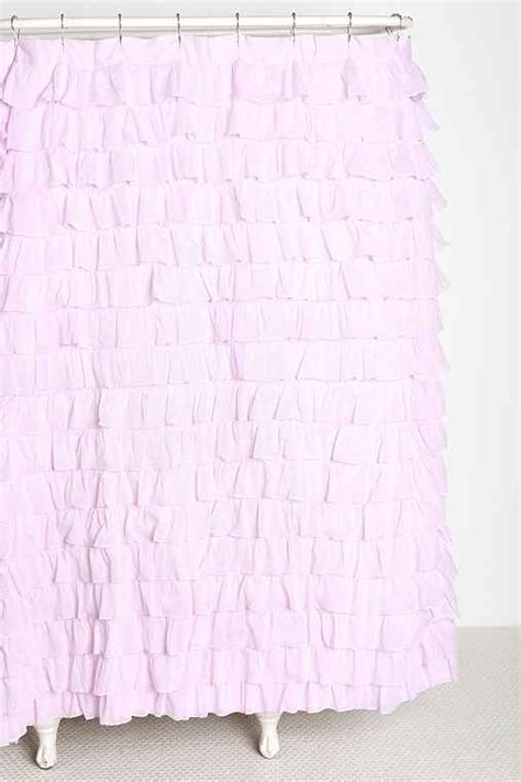 pink ruffle curtains urban outfitters begenn