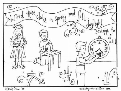 Coloring Daylight Savings Pages Printable Children Saving