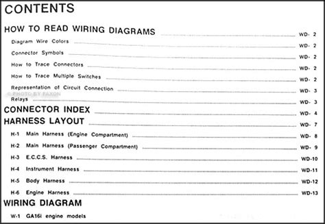 Nissan Sentra Wiring Diagram Manual Original