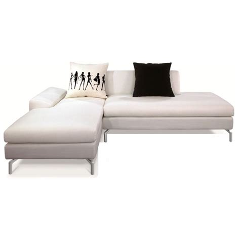 white fabric sectional sofa with chaise bosnia sectional sofa cream white fabric left facing