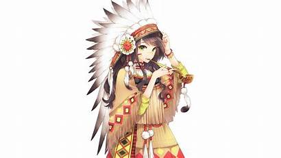 Native Anime Headdress Americans Female American Indian