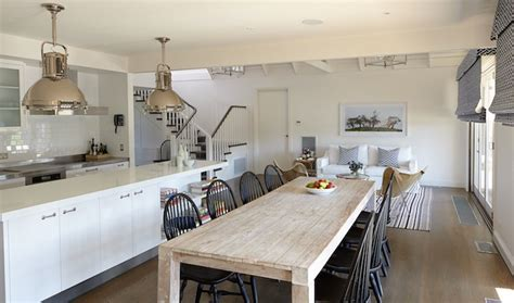 Salvaged Wood Dining Table   Transitional   kitchen