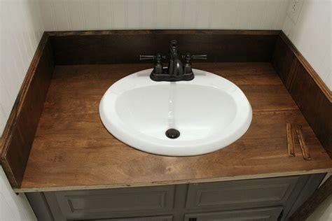 Diy Wood Bathroom Countertop An Easy Way To Change Your