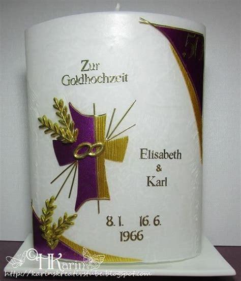 karins kreativstube kerze goldene hochzeit elisabeth