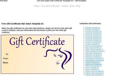 Salon Gift Certificate Template Free Costumepartyrun