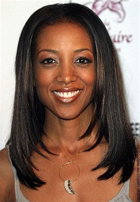 layered hairstyles  black women