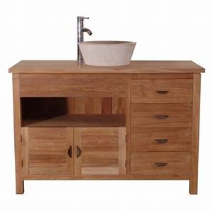 meuble salle de bain 2 teck de java lifestyle With meuble salle de bain personnalisé