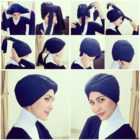 wrap turban tutorial turban style hijabs pinterest