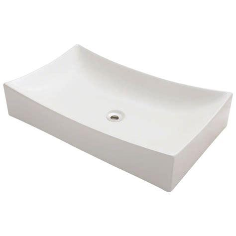 polaris sinks porcelain vessel sink in white p053v w the