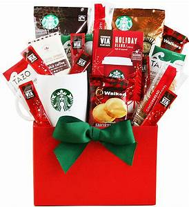 Christmas Time with Starbucks Coffee Gift Basket